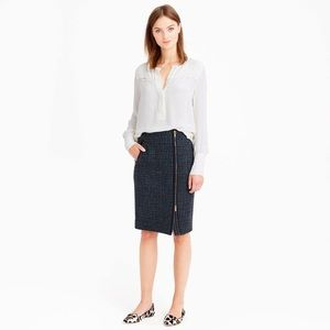 J. CREW / asymmetrical zip pencil skirt